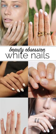 white nail polish ideas - @mystylevita