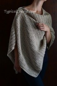 Simple Crochet Wrap - Free Pattern from TypicalCheryl.com. Simple even for beginners. Wear it three ways.