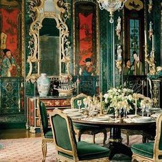 Ann Getty interior inspiration from the #AnnaSuiFall17 mood board. See more of Anna's inspiration at link in profile.