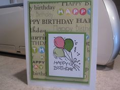 Birthday Balloons! by bhillard - Cards and Paper Crafts at Splitcoaststampers