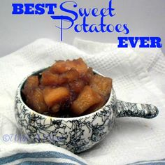 Best Sweet Potatoes Ever ~ This is a typical Boerekos dish, which really means - traditional South-African food. It's like dessert served on the same plate as the food! South African Dishes, South African Recipes, Potato Pudding, Potato Pie, Potato Dishes, Potato Casserole, Candied Sweet Potatoes, Baked Potatoes, Side Dish Recipes