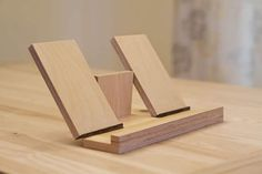 Walnut Wood iPad Stand / iPad Holder for Bed Side Table or
