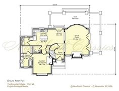 Two bedrooms and a loft upstairs. For single living, this is is actually ideally laid out. Unfortunately all guest lodging is upstairs. Love the circular stair and exterior design. Opportunities for multiple dog exits. Would need to add on a garage though.