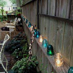 Old glass insulators