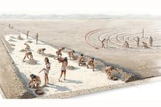 Nazca Culture people creating geoglyphs in Peru by Fernando G. Baptista