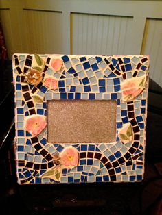 Mosaic picture frame    Pique Assiette by PiquedForYou on Etsy, $45.00