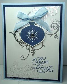 Delightful Decorations:  silver  blue