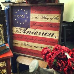 Check out our patriotic sign selection for the very best in unique or custom, handmade pieces from our signs shops. I Pledge Allegiance, Flag Signs, Allegiant, How To Distress Wood, First Nations, Independence Day, Wooden Signs, Memorial Day, 4th Of July