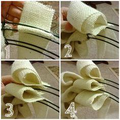 DIY Burlap Wreath Easy tutorial #DIY #Wreath #Burlap