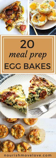 20 Healthy Meal Prep Egg Bake Recipes | meal prep I healthy breakfast recipes I healthy breakfast ideas I breakfast recipes I healthy recipes II Nourish Move Love #healthybreakfast #mealprep #mealprepping