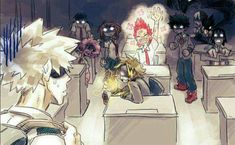 "Kiribaku by syblatortue - ""because Bakugou needs tutoring in how to be gentle and reassuring to the people he rescues. Kirishima was glad to play the victim."" Part 2 - ""Bakugou has a lot of explaining to do."" Metade da classe A quer arrancar o coro dele My Hero Academia Shouto, Hero Academia Characters, Hiro Big Hero 6, Bakugou Manga, Kirishima Eijirou, Boku No Hero Academy, Pop Rocks, Anime Ships, Animes Wallpapers"