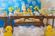 Festa tema banho e patinhos: inspiração para decoração de festa infantil | Macetes de Mãe