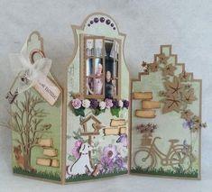 Art Houses, Card Crafts, Pop Up Cards, Home Art, Christmas Cards, Card Making, Craft Ideas, Restaurant, Scrapbook