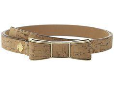 Kate Spade New York Cork Belt w/ Bow Buckle