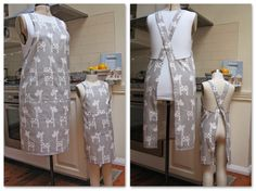 Cross-back Apron for Mothers and Daugthers Free Pattern Easy to make the Cross-Back Apron for adults and children by Felicity Sewing Patterns Apron Pattern Free, Sewing Patterns Free, Apron Patterns, Child Apron Pattern, Clothes Patterns, Dress Patterns, Easy Sewing Projects, Sewing Projects For Beginners, Sewing Tutorials