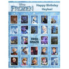 Disney Frozen Bingo from Birthdays, Bingo, Invites,  More! | Square Market  This is a great deal! 1 set of Disney's Frozen Bingo sheets (1 set = 10 sheets) and calling cards! Message me for details!