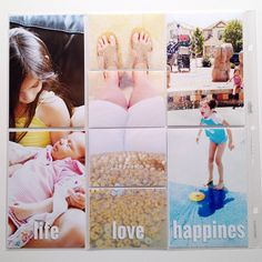Love love this idea of the three vertical photos. #projectlife