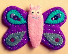 Possibly my fav butterfly ever! Made with felt x