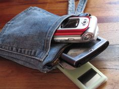 Sewing Tutorial. Protect the Tech. 3-Pocket Gadget Protector: Make a cool gadget protector with three separate pockets to protect delicate expensive gadgets, from your keys, pens and other stuff in your backpack or purse.