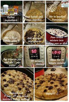 Sisters Under Pressure Instant Pot Chocolate Chip Banana Bread Recipe