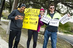 Nothing can cheer up a struggling runner like a well-timed spectator sign.