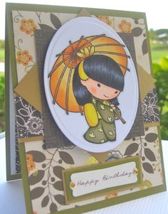 Sister Stamps: Ayako | Wahine Inks... **** Sister Stamps & Washi Paper available from www.SisterStamps.com ****