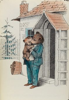 "An illustration by Maurice Sendak in scarce first editions of Minarik's beloved ""Little Bear"" series of readers."