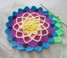 hazel's crochet. Love the look of this no idea how I would actually use it other then a blanket but saving for someday