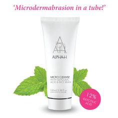 New Year Skin Detox!  It's time to detox your skin and start 2014 with a clean slate (and pores).  The Alpha-H Micro Cleanse instantly clears the skin, pores and follicles of dead skin cells and blackheads whilst smoothing out lines and wrinkles.
