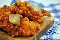 Are you looking for an Air Fryer chicken recipe? I LOVE my air fryer! This Nashville Chicken recipe takes home the cake. Delicious spices topped off with tangy pickles gives… Air Fryer Fried Chicken, Fried Chicken Tenders, Air Fry Recipes, Cooking Recipes, Healthy Recipes, Cooking Tips, Air Fryer Cake Recipes, Keto Recipes, Cooking Stuff