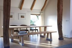 Dutch Interior featuring Base Table and Base Bench by Jorre van Ast for Arco - Local  Wood Collection Pot Interieur