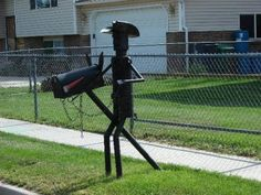 Cowboy mailbox. In your yard a mailbox like this will get attention from the bystanders