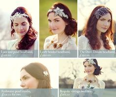 Beautiful vintage head bands