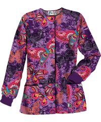 UA Butterfly Dream Purple Parfait Print Scrub Jacket Style #  PC834BFD  | Radiant Orchid