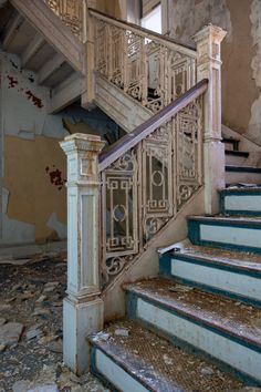 The abandoned Waldo Hotel in Clarksburg, WV. photo by Amy Heiden Abandoned Property, Abandoned Castles, Abandoned Mansions, Abandoned Places, Old Buildings, Abandoned Buildings, Beautiful Ruins, Beautiful Places, Stairway To Heaven
