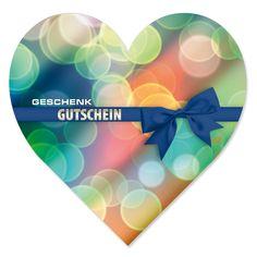 Herz-Geschenkgutschein BL455, erhältlich auf www.geschenkgutschein.com Mother's Day, Things To Do, Heart, Simple