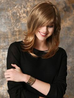 More than 40 of the best mid-length hair styling styles – Page 2 – Kornelia Nowak Front Hair Styles, Medium Hair Styles, Natural Hair Growth, Natural Hair Styles, Monofilament Wigs, Short Straight Hair, Long Hair, Mid Length Hair, Long Wigs
