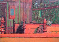 An Eating House. Harold Gilman. 1913/14. Probably the one on the corner of Cumberland Market near Robert Bevan's studio - http://www.scribd.com/doc/26145832/Straws-From-Cumberland-Market