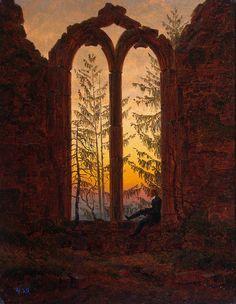 The Dreamer (Ruins of the Oybin). Caspar David Friedrich