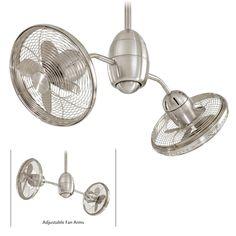 Minka Aire Gyrette F302-BN Brush Nickel Dual Motor Ceiling Fan w/Remote #MinkaAire #CeilingFan