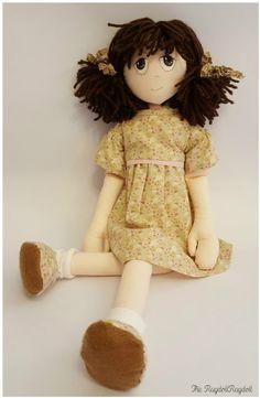 Handmade Rag Doll beautiful 'Bramble Rags' by TheRagdollRagdoll