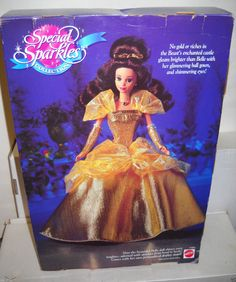1994 NRFB Mattel Disney Special Sparkles Collection Belle from Beauty & the Beast