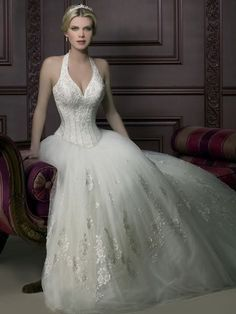 Sexy Corset Wedding Dresses | ... Sexy-Halter-Top-A-Line-Beading-Corset-Wedding-Gowns-2013-New-Arrival