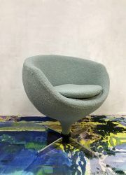 Vintage Luna lounge ball chair stoel draaifauteuil Pierre Guariche Meurop