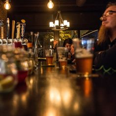 Because the workday for the regulars here -- actors, comics and writers -- is more likely to be 4 to 12 than 9 to 5, happy hour at Snowdonia begins at midnight. (Photo: Robert Stolarik for The New York Times)