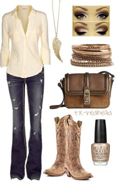 Country Girl by tx-redhead on Polyvore