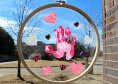 toddler valentine craft handprint suncatcher, crafts, seasonal holiday d cor, valentines day ideas Toddler Valentine Crafts, Valentines For Kids, Toddler Crafts, Funny Valentine, Craft Activities For Kids, Preschool Crafts, Craft Ideas, Toddler Activities, Holiday Fun