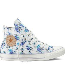 white floral converse high tops