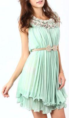 Mint Chiffon Twirl Dress ♥ L.O.V.E. this Dress ..SO cUte!