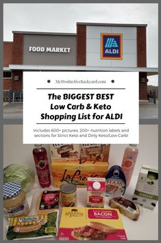 The Biggest Best Low Carb Keto Shopping List for ALDI:Includes 600+ pictures, 200+ nutrition labels and sections for Strict Keto and Dirty Keto/Low… Keto Diet List, Starting Keto Diet, Keto Diet Plan, Paleo Diet, Diet Plans, Keto Fat, Low Carb Keto, Keto Approved Foods, Shopping